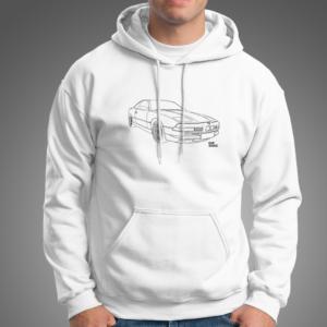 e31 white hoodie